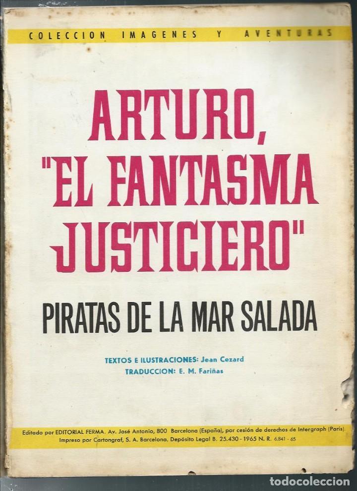 Tebeos: ARTURO EL FANTASMA JUSTICIERO - PIRATAS DE LA MAR SALADA, FERMA 1965 COL. AVENTURAS ILUSTRADAS EXTRA - Foto 2 - 170878240