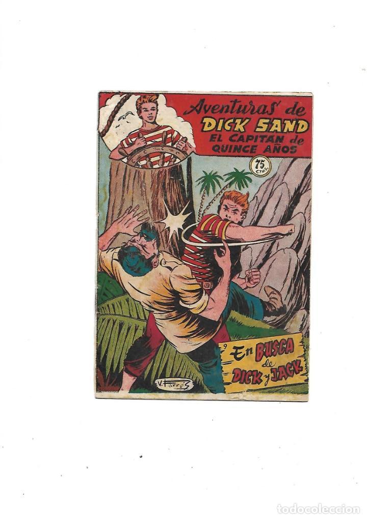 Tebeos: Aventuras de Dick Sand Lote de 3 Tebeos Originales que son los Nº 1 - 9 - 14 Dibujos V. Farrés - Foto 3 - 171648993