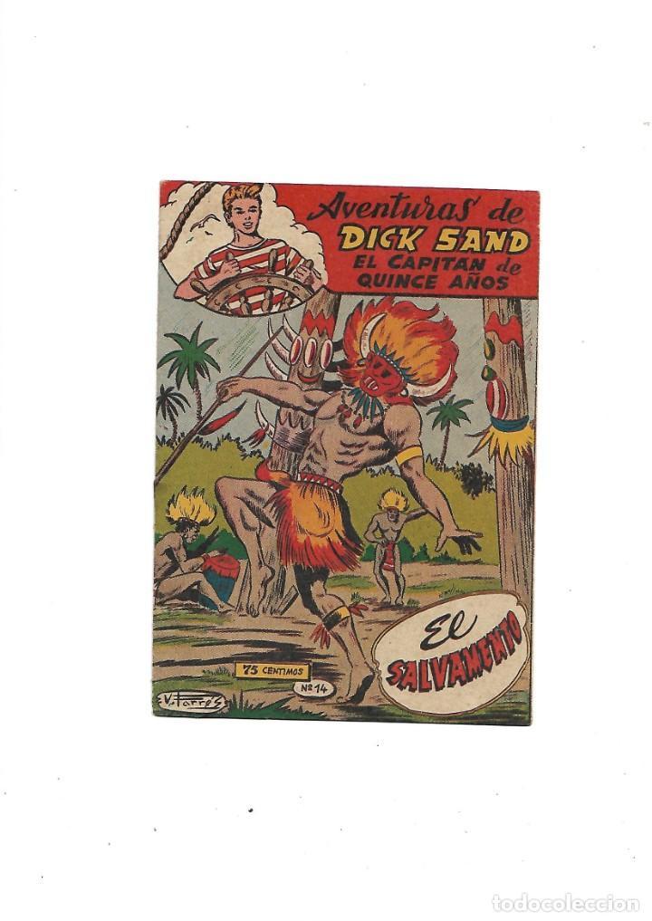 Tebeos: Aventuras de Dick Sand Lote de 3 Tebeos Originales que son los Nº 1 - 9 - 14 Dibujos V. Farrés - Foto 5 - 171648993