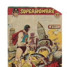 Tebeos: SUPERHOMBRE, AÑO 1958 Nº 4. ES ORIGINAL DIBUJOS DE GIRAL EDITORIAL FERMA. Lote 171724884