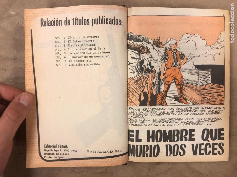 Tebeos: AGENTE SECRETO. LOTE 3 TOMOS CON 25 NOVELAS GRÁFICAS ENCUADERNADAS. EDITORIAL FERMA (1966). - Foto 3 - 175813108