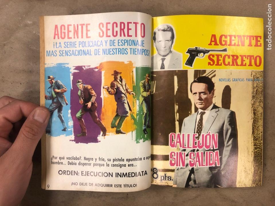 Tebeos: AGENTE SECRETO. LOTE 3 TOMOS CON 25 NOVELAS GRÁFICAS ENCUADERNADAS. EDITORIAL FERMA (1966). - Foto 4 - 175813108