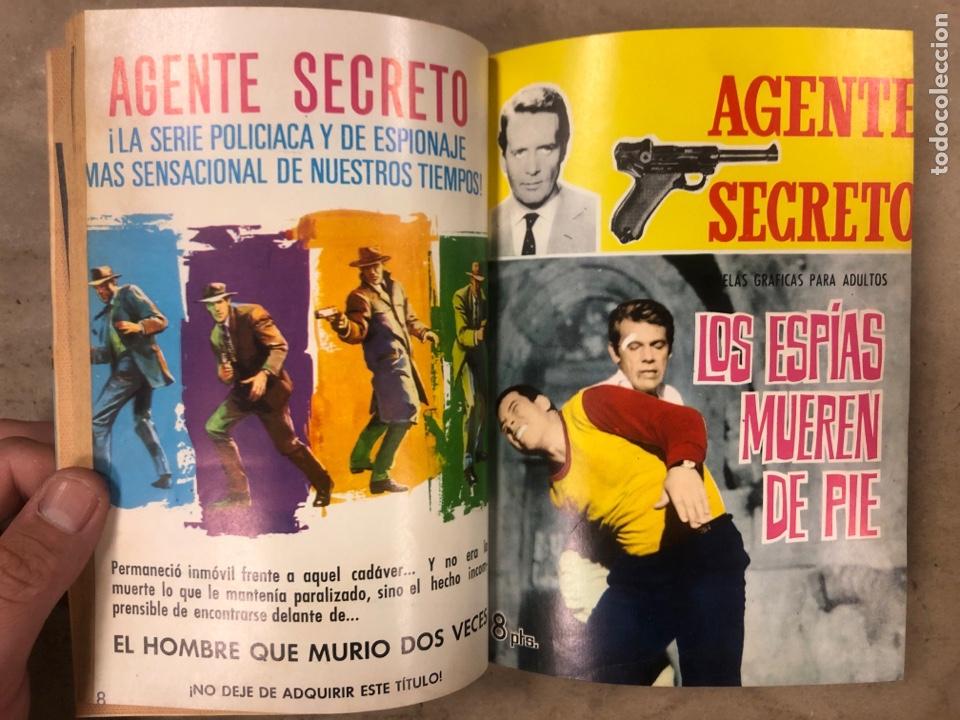 Tebeos: AGENTE SECRETO. LOTE 3 TOMOS CON 25 NOVELAS GRÁFICAS ENCUADERNADAS. EDITORIAL FERMA (1966). - Foto 6 - 175813108
