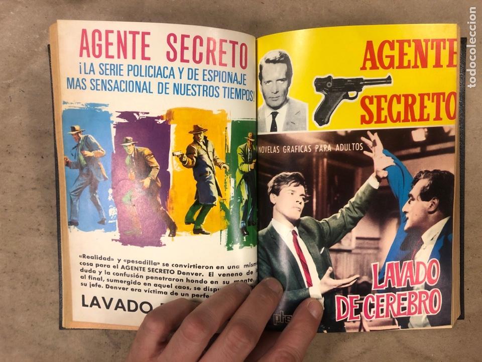 Tebeos: AGENTE SECRETO. LOTE 3 TOMOS CON 25 NOVELAS GRÁFICAS ENCUADERNADAS. EDITORIAL FERMA (1966). - Foto 8 - 175813108