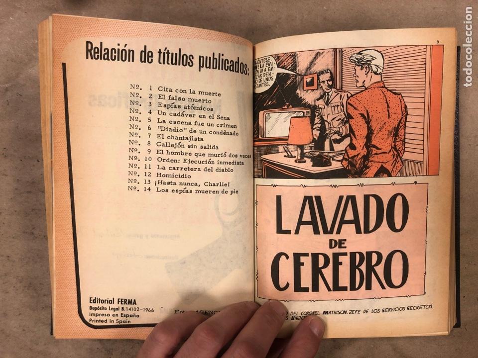 Tebeos: AGENTE SECRETO. LOTE 3 TOMOS CON 25 NOVELAS GRÁFICAS ENCUADERNADAS. EDITORIAL FERMA (1966). - Foto 9 - 175813108