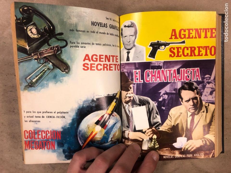 Tebeos: AGENTE SECRETO. LOTE 3 TOMOS CON 25 NOVELAS GRÁFICAS ENCUADERNADAS. EDITORIAL FERMA (1966). - Foto 10 - 175813108