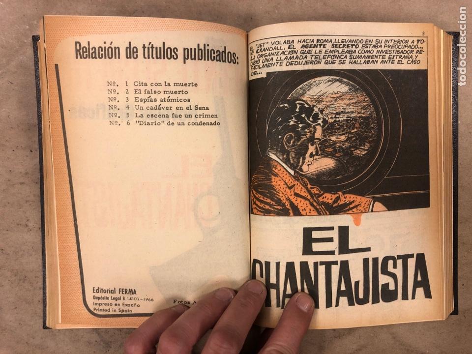 Tebeos: AGENTE SECRETO. LOTE 3 TOMOS CON 25 NOVELAS GRÁFICAS ENCUADERNADAS. EDITORIAL FERMA (1966). - Foto 11 - 175813108