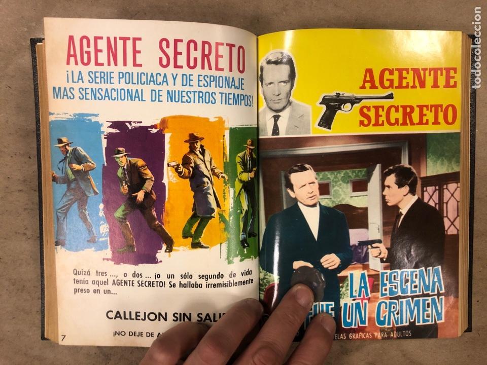 Tebeos: AGENTE SECRETO. LOTE 3 TOMOS CON 25 NOVELAS GRÁFICAS ENCUADERNADAS. EDITORIAL FERMA (1966). - Foto 12 - 175813108