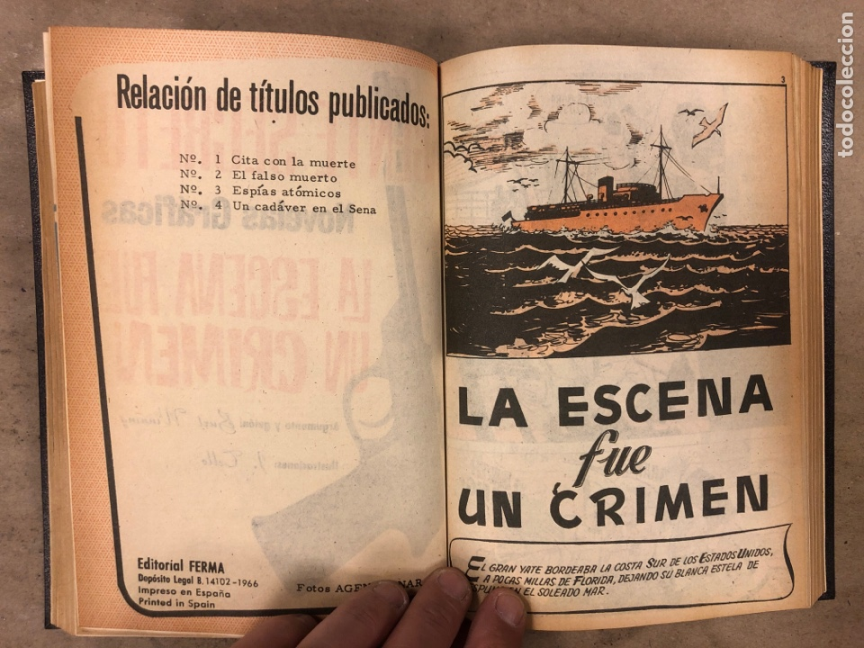 Tebeos: AGENTE SECRETO. LOTE 3 TOMOS CON 25 NOVELAS GRÁFICAS ENCUADERNADAS. EDITORIAL FERMA (1966). - Foto 13 - 175813108