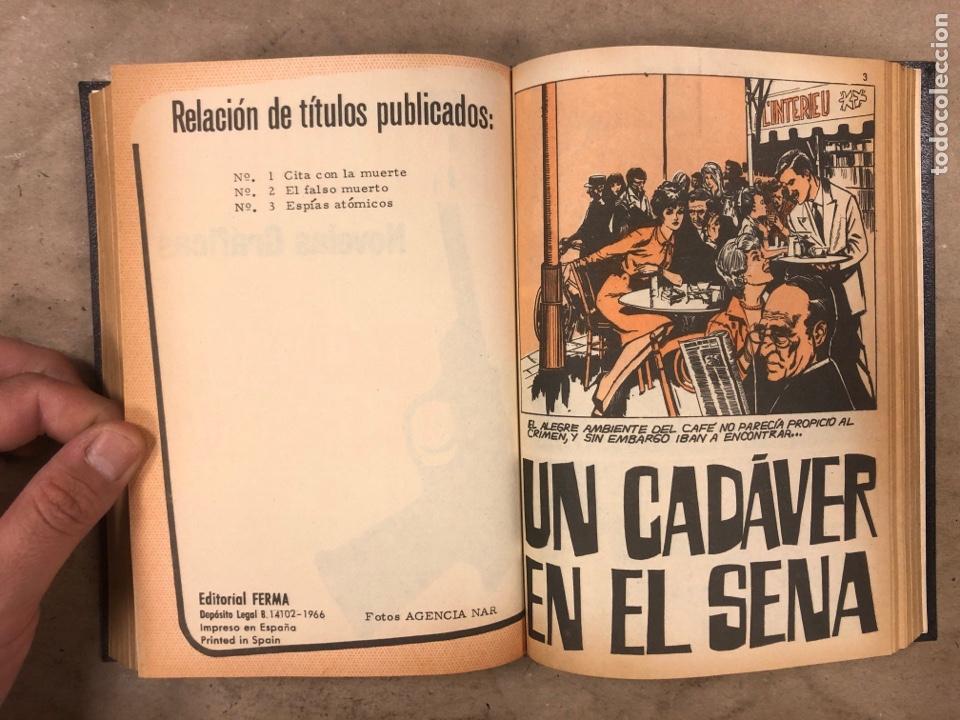 Tebeos: AGENTE SECRETO. LOTE 3 TOMOS CON 25 NOVELAS GRÁFICAS ENCUADERNADAS. EDITORIAL FERMA (1966). - Foto 15 - 175813108