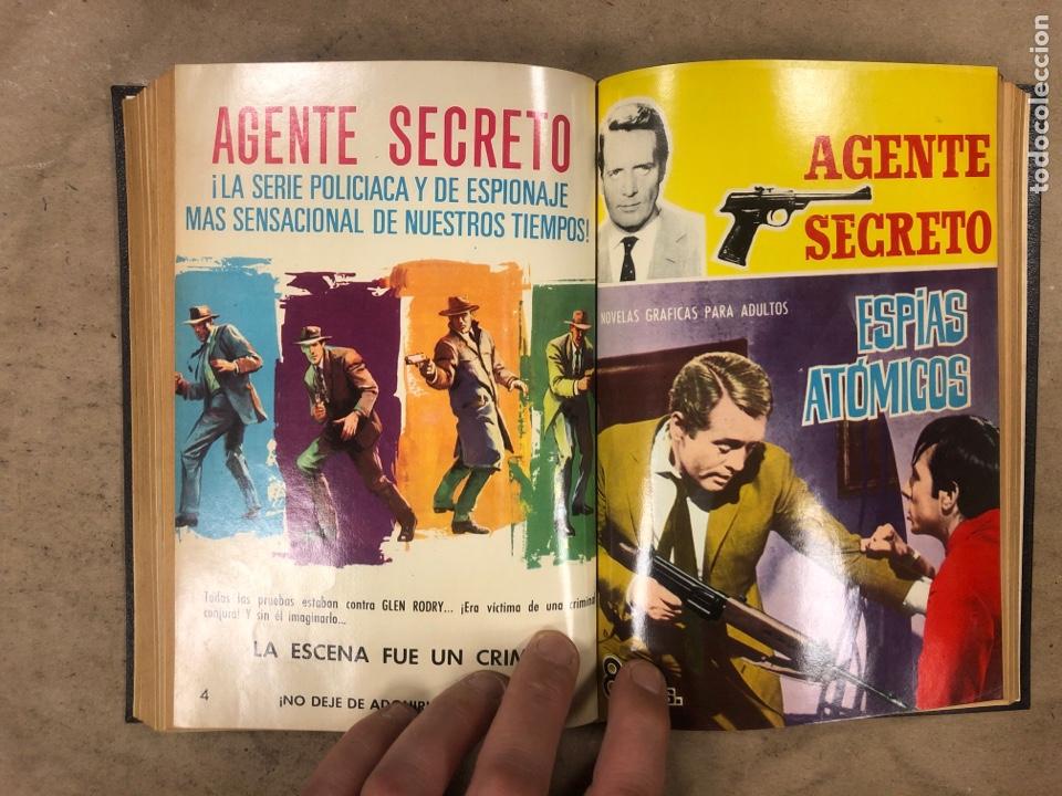 Tebeos: AGENTE SECRETO. LOTE 3 TOMOS CON 25 NOVELAS GRÁFICAS ENCUADERNADAS. EDITORIAL FERMA (1966). - Foto 16 - 175813108