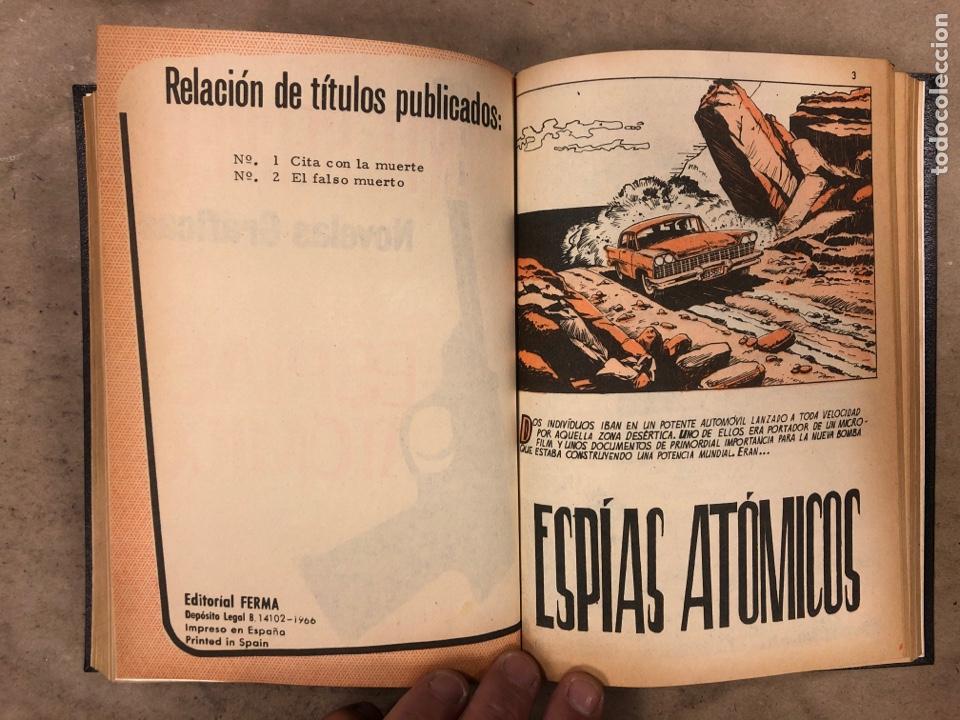 Tebeos: AGENTE SECRETO. LOTE 3 TOMOS CON 25 NOVELAS GRÁFICAS ENCUADERNADAS. EDITORIAL FERMA (1966). - Foto 17 - 175813108
