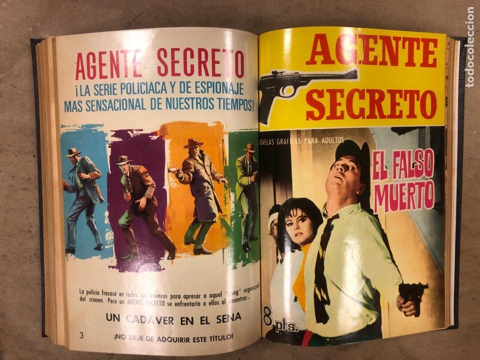 Tebeos: AGENTE SECRETO. LOTE 3 TOMOS CON 25 NOVELAS GRÁFICAS ENCUADERNADAS. EDITORIAL FERMA (1966). - Foto 18 - 175813108