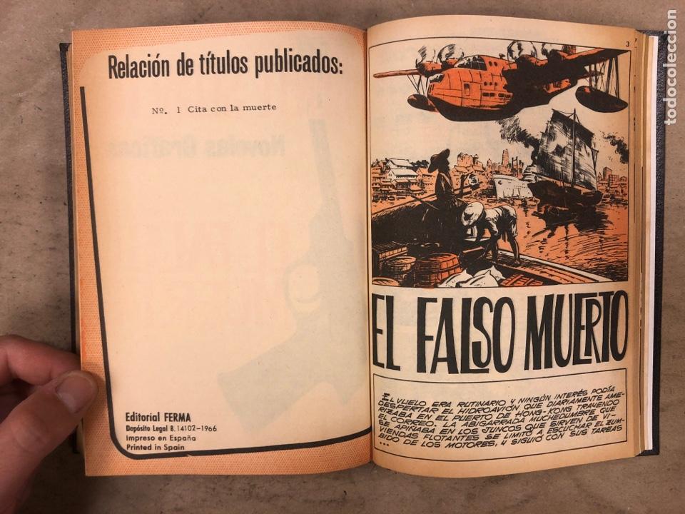 Tebeos: AGENTE SECRETO. LOTE 3 TOMOS CON 25 NOVELAS GRÁFICAS ENCUADERNADAS. EDITORIAL FERMA (1966). - Foto 19 - 175813108