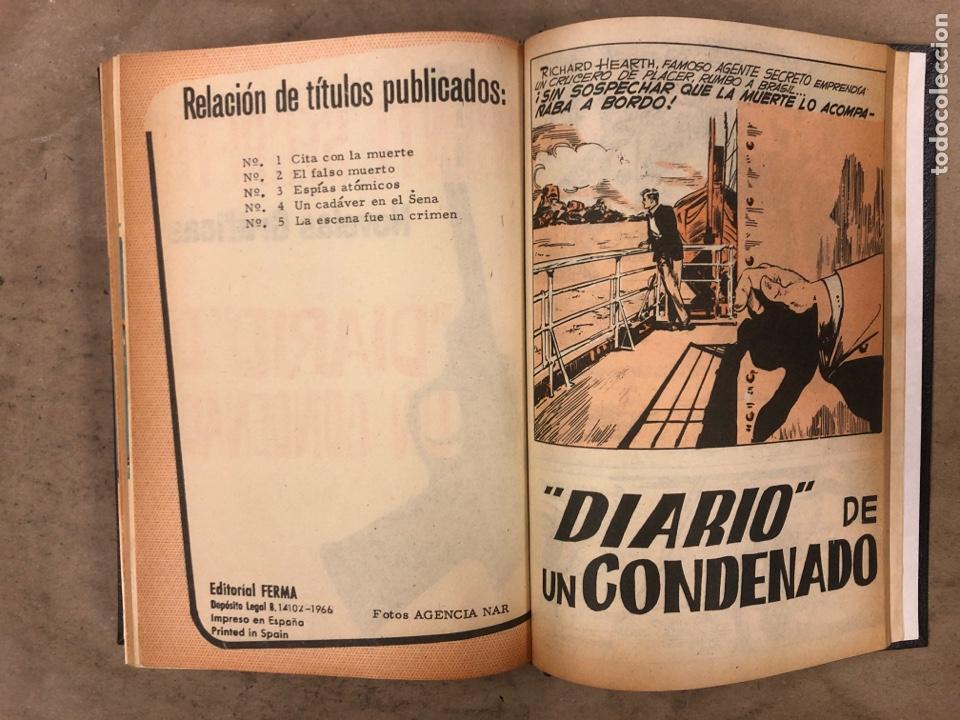 Tebeos: AGENTE SECRETO. LOTE 3 TOMOS CON 25 NOVELAS GRÁFICAS ENCUADERNADAS. EDITORIAL FERMA (1966). - Foto 21 - 175813108
