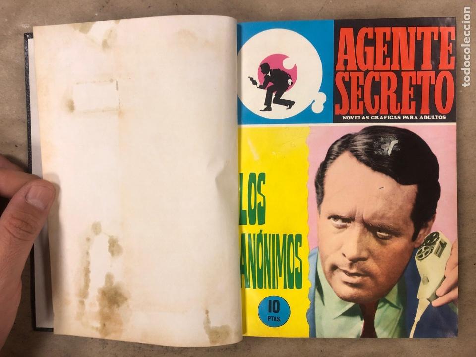 Tebeos: AGENTE SECRETO. LOTE 3 TOMOS CON 25 NOVELAS GRÁFICAS ENCUADERNADAS. EDITORIAL FERMA (1966). - Foto 24 - 175813108
