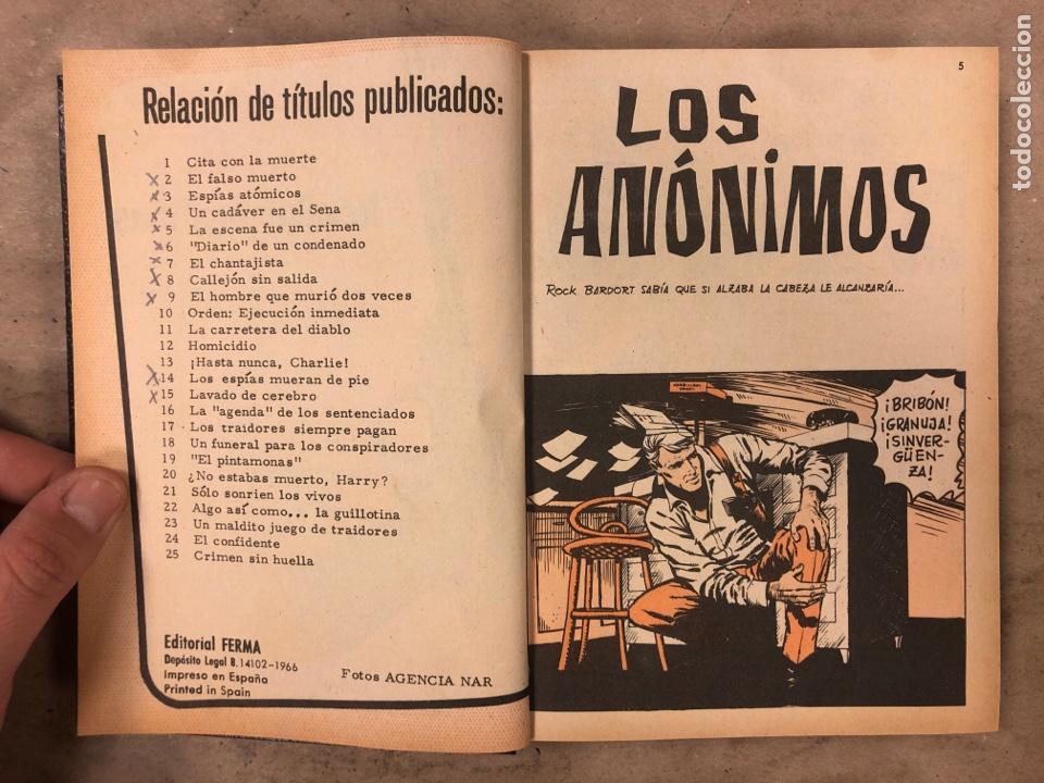 Tebeos: AGENTE SECRETO. LOTE 3 TOMOS CON 25 NOVELAS GRÁFICAS ENCUADERNADAS. EDITORIAL FERMA (1966). - Foto 25 - 175813108