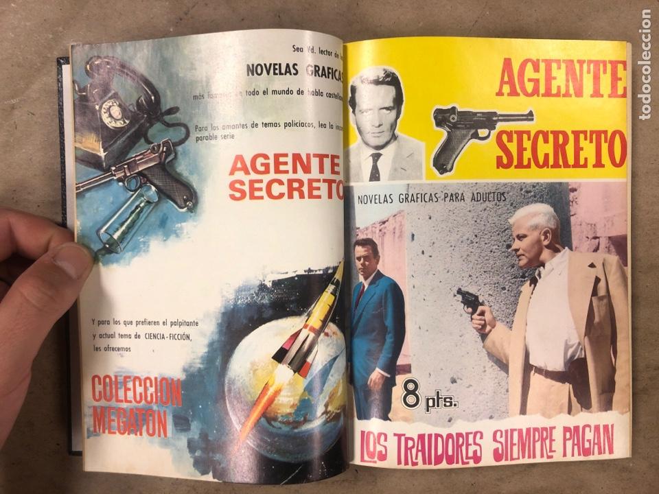Tebeos: AGENTE SECRETO. LOTE 3 TOMOS CON 25 NOVELAS GRÁFICAS ENCUADERNADAS. EDITORIAL FERMA (1966). - Foto 26 - 175813108