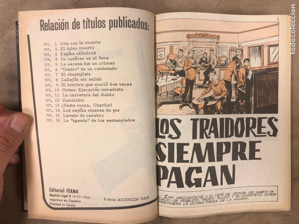 Tebeos: AGENTE SECRETO. LOTE 3 TOMOS CON 25 NOVELAS GRÁFICAS ENCUADERNADAS. EDITORIAL FERMA (1966). - Foto 27 - 175813108