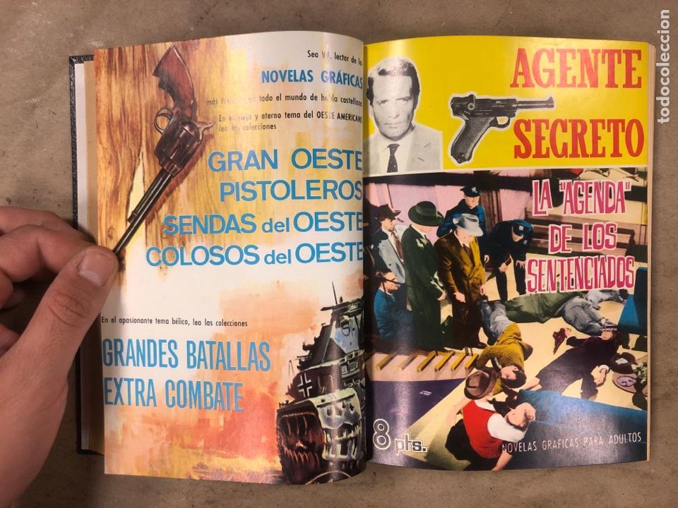 Tebeos: AGENTE SECRETO. LOTE 3 TOMOS CON 25 NOVELAS GRÁFICAS ENCUADERNADAS. EDITORIAL FERMA (1966). - Foto 28 - 175813108