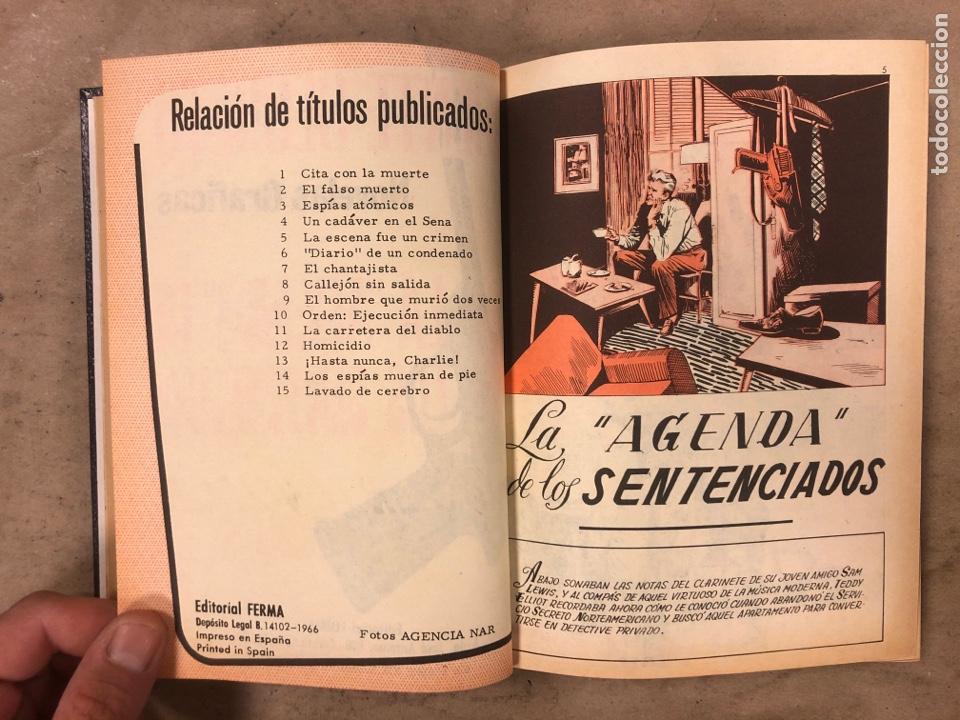 Tebeos: AGENTE SECRETO. LOTE 3 TOMOS CON 25 NOVELAS GRÁFICAS ENCUADERNADAS. EDITORIAL FERMA (1966). - Foto 29 - 175813108