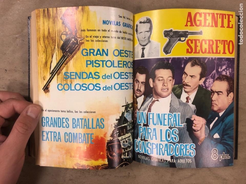Tebeos: AGENTE SECRETO. LOTE 3 TOMOS CON 25 NOVELAS GRÁFICAS ENCUADERNADAS. EDITORIAL FERMA (1966). - Foto 30 - 175813108