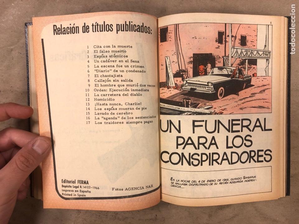 Tebeos: AGENTE SECRETO. LOTE 3 TOMOS CON 25 NOVELAS GRÁFICAS ENCUADERNADAS. EDITORIAL FERMA (1966). - Foto 31 - 175813108