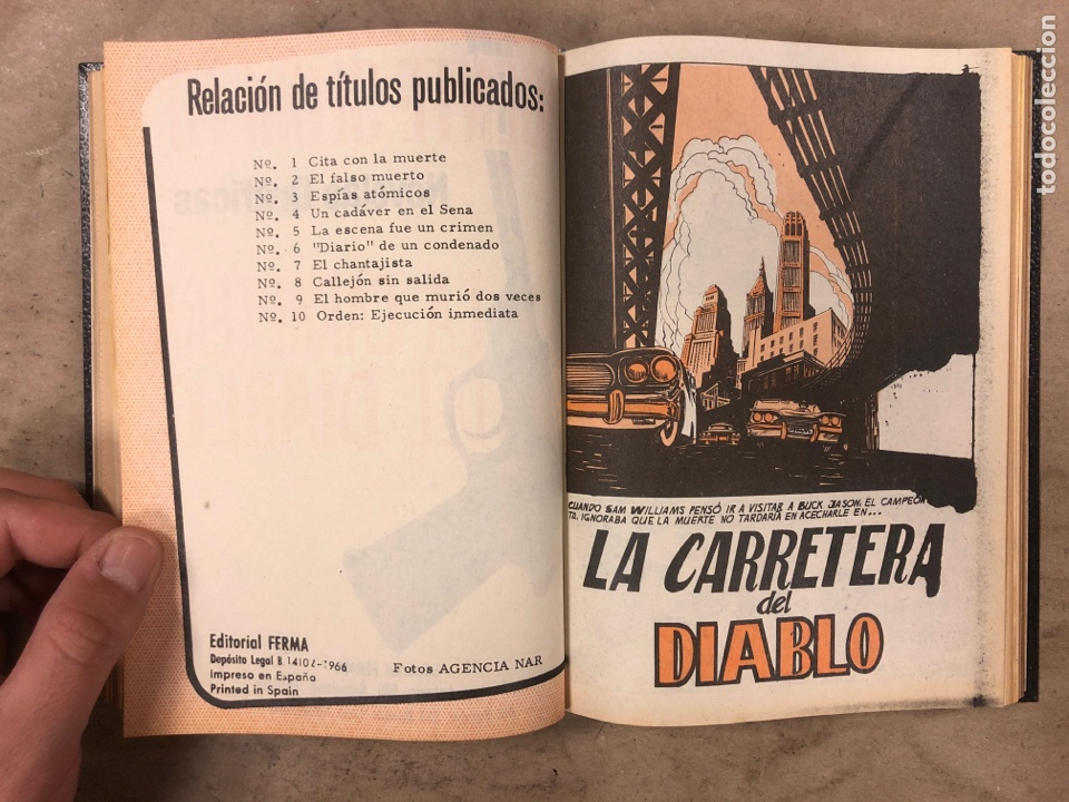 Tebeos: AGENTE SECRETO. LOTE 3 TOMOS CON 25 NOVELAS GRÁFICAS ENCUADERNADAS. EDITORIAL FERMA (1966). - Foto 33 - 175813108
