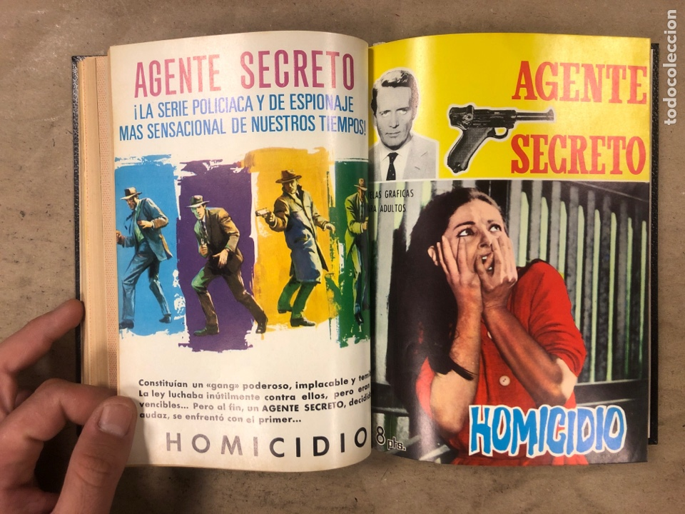 Tebeos: AGENTE SECRETO. LOTE 3 TOMOS CON 25 NOVELAS GRÁFICAS ENCUADERNADAS. EDITORIAL FERMA (1966). - Foto 34 - 175813108
