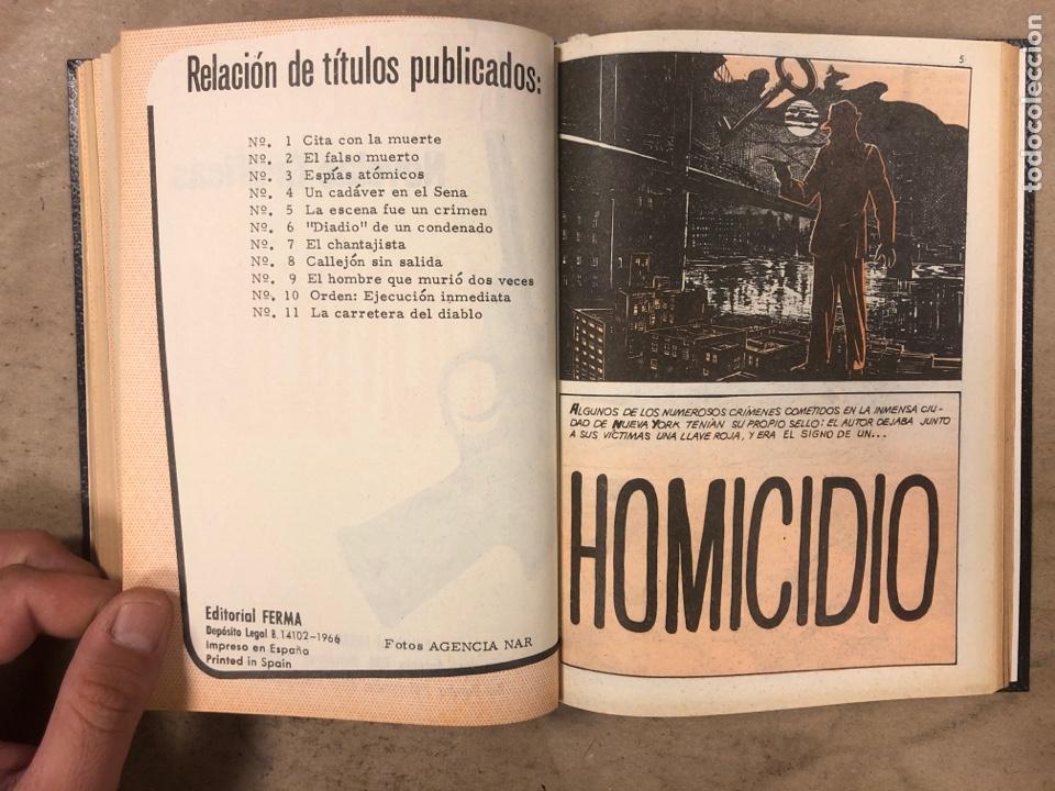 Tebeos: AGENTE SECRETO. LOTE 3 TOMOS CON 25 NOVELAS GRÁFICAS ENCUADERNADAS. EDITORIAL FERMA (1966). - Foto 35 - 175813108