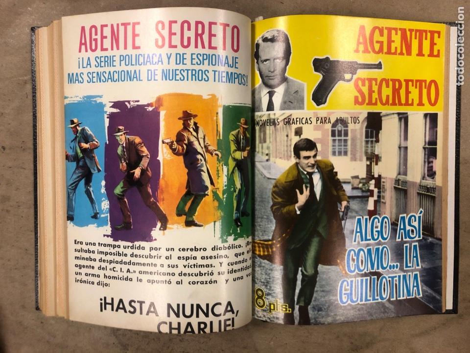 Tebeos: AGENTE SECRETO. LOTE 3 TOMOS CON 25 NOVELAS GRÁFICAS ENCUADERNADAS. EDITORIAL FERMA (1966). - Foto 36 - 175813108