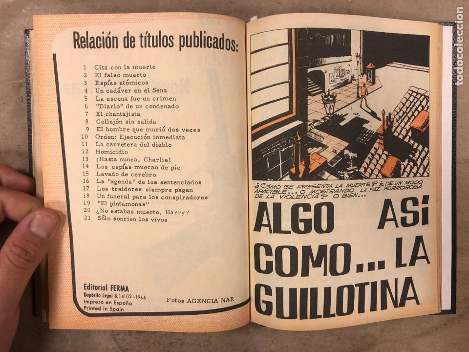 Tebeos: AGENTE SECRETO. LOTE 3 TOMOS CON 25 NOVELAS GRÁFICAS ENCUADERNADAS. EDITORIAL FERMA (1966). - Foto 37 - 175813108