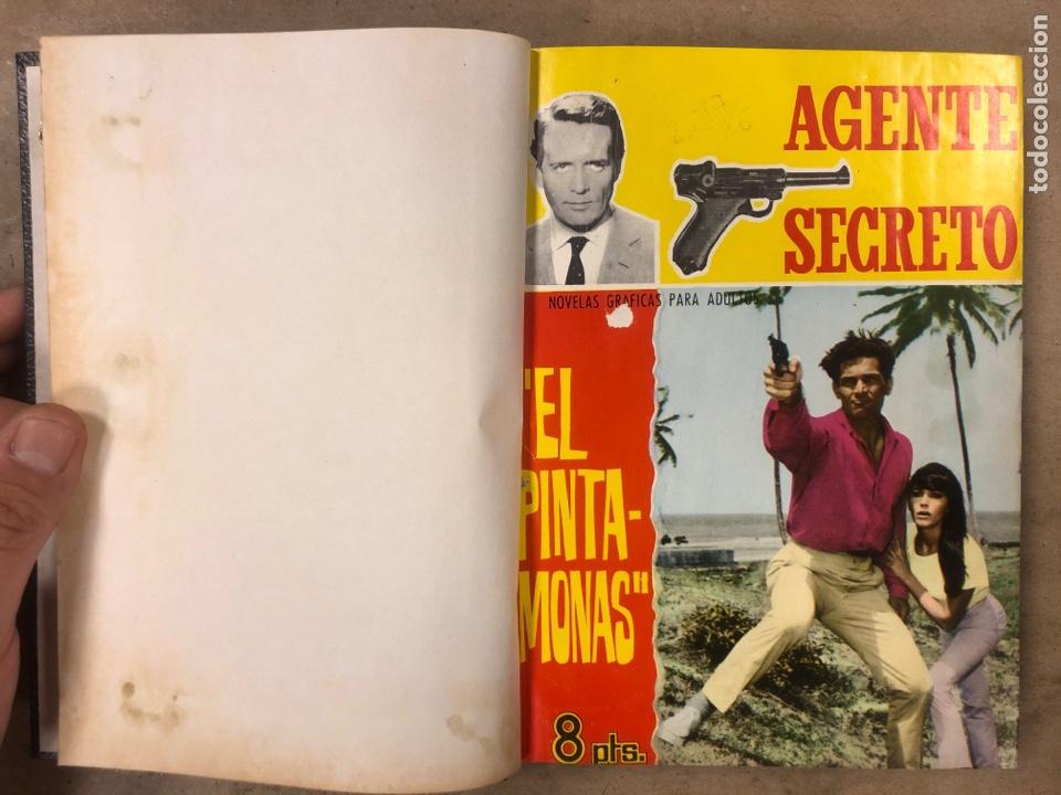 Tebeos: AGENTE SECRETO. LOTE 3 TOMOS CON 25 NOVELAS GRÁFICAS ENCUADERNADAS. EDITORIAL FERMA (1966). - Foto 40 - 175813108
