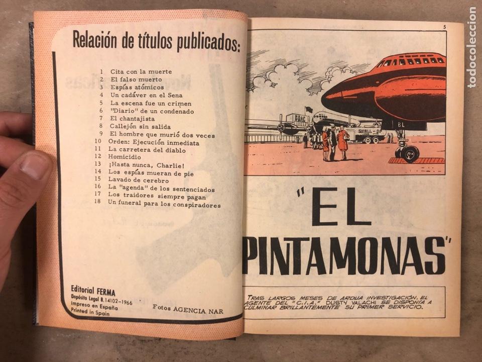 Tebeos: AGENTE SECRETO. LOTE 3 TOMOS CON 25 NOVELAS GRÁFICAS ENCUADERNADAS. EDITORIAL FERMA (1966). - Foto 41 - 175813108