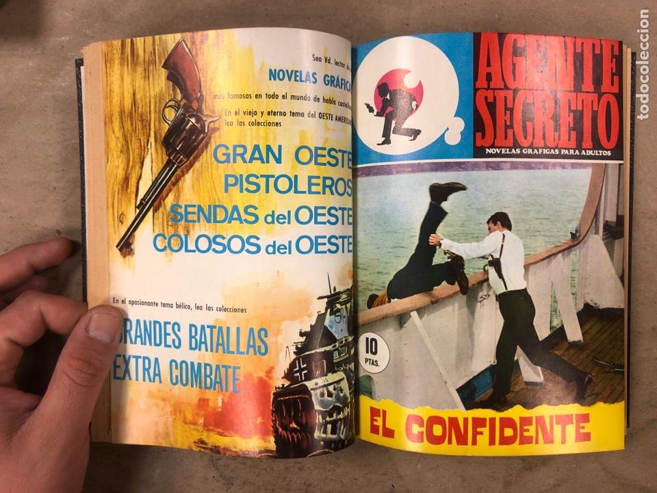 Tebeos: AGENTE SECRETO. LOTE 3 TOMOS CON 25 NOVELAS GRÁFICAS ENCUADERNADAS. EDITORIAL FERMA (1966). - Foto 44 - 175813108