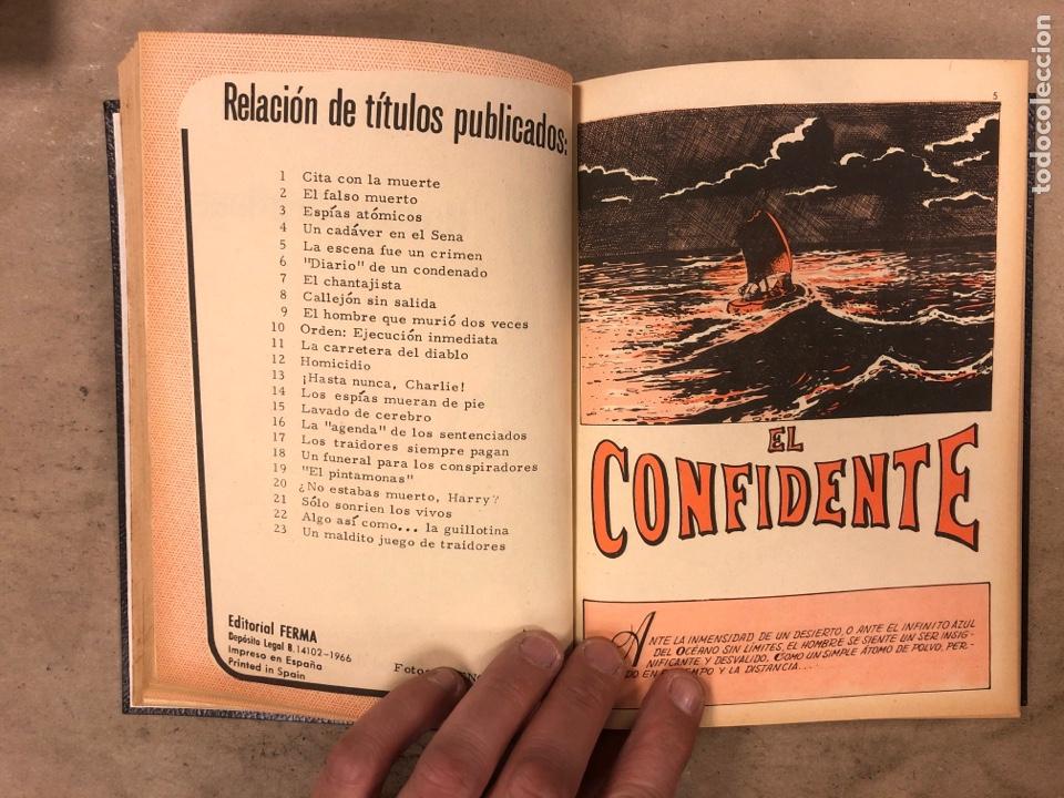 Tebeos: AGENTE SECRETO. LOTE 3 TOMOS CON 25 NOVELAS GRÁFICAS ENCUADERNADAS. EDITORIAL FERMA (1966). - Foto 45 - 175813108