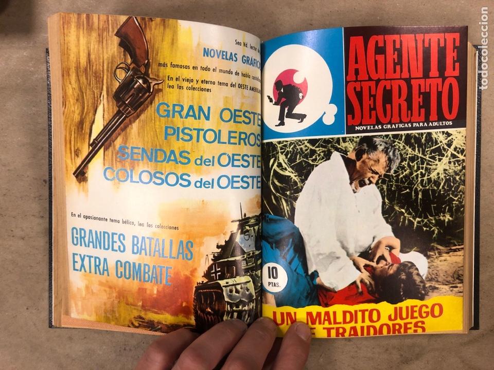 Tebeos: AGENTE SECRETO. LOTE 3 TOMOS CON 25 NOVELAS GRÁFICAS ENCUADERNADAS. EDITORIAL FERMA (1966). - Foto 46 - 175813108