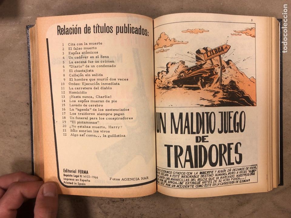 Tebeos: AGENTE SECRETO. LOTE 3 TOMOS CON 25 NOVELAS GRÁFICAS ENCUADERNADAS. EDITORIAL FERMA (1966). - Foto 47 - 175813108