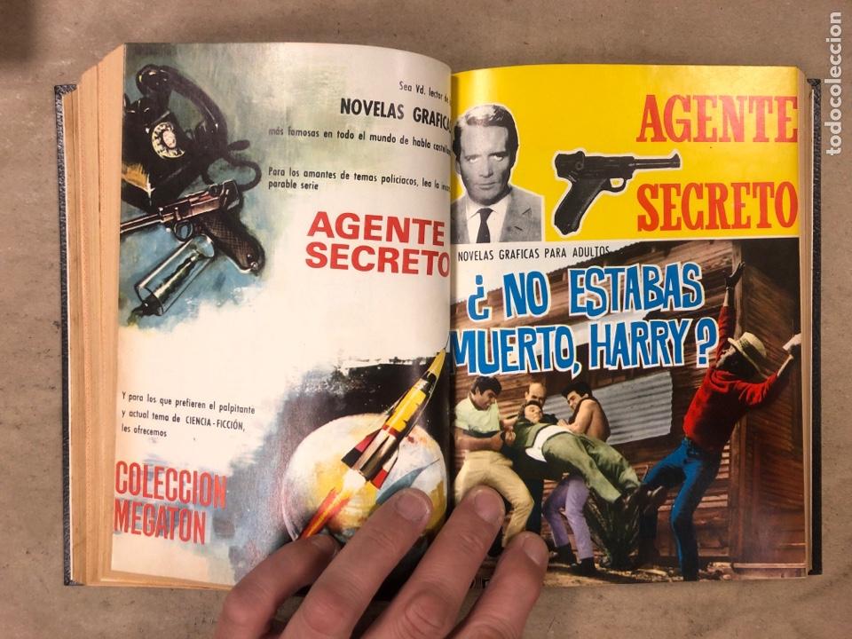 Tebeos: AGENTE SECRETO. LOTE 3 TOMOS CON 25 NOVELAS GRÁFICAS ENCUADERNADAS. EDITORIAL FERMA (1966). - Foto 48 - 175813108