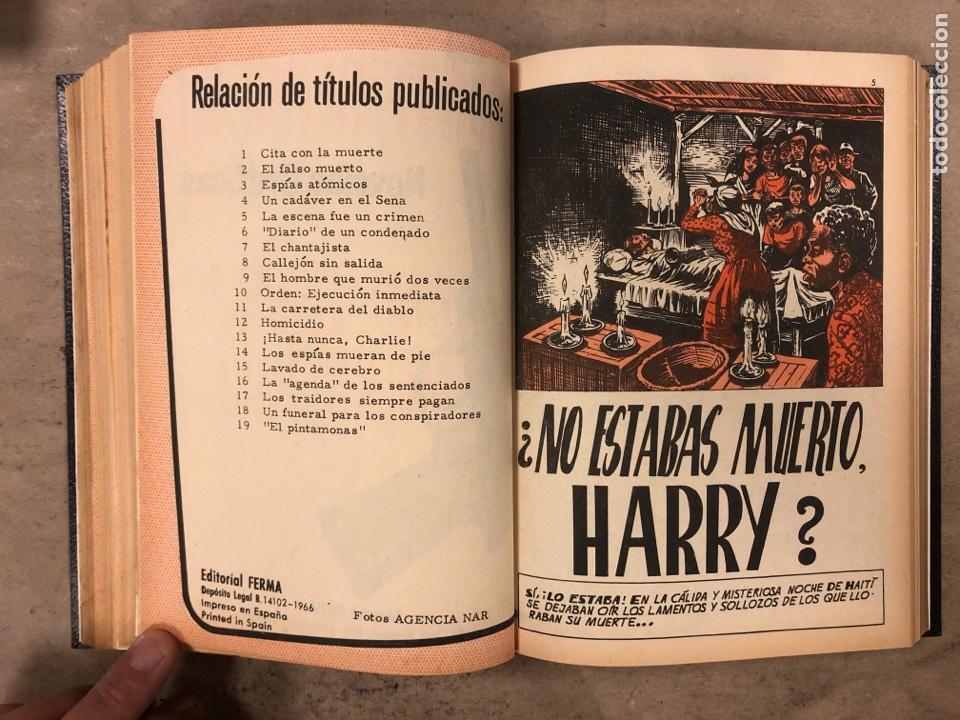 Tebeos: AGENTE SECRETO. LOTE 3 TOMOS CON 25 NOVELAS GRÁFICAS ENCUADERNADAS. EDITORIAL FERMA (1966). - Foto 49 - 175813108