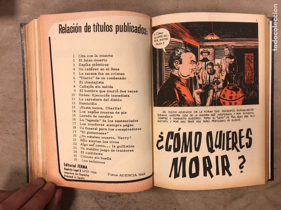 Tebeos: AGENTE SECRETO. LOTE 3 TOMOS CON 25 NOVELAS GRÁFICAS ENCUADERNADAS. EDITORIAL FERMA (1966). - Foto 51 - 175813108
