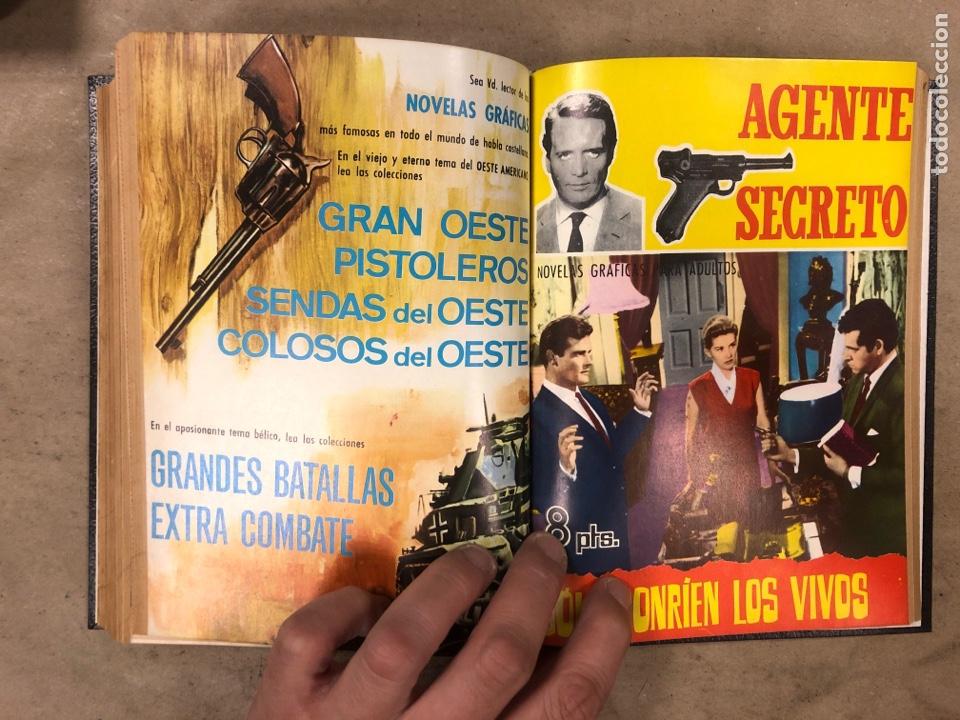 Tebeos: AGENTE SECRETO. LOTE 3 TOMOS CON 25 NOVELAS GRÁFICAS ENCUADERNADAS. EDITORIAL FERMA (1966). - Foto 52 - 175813108