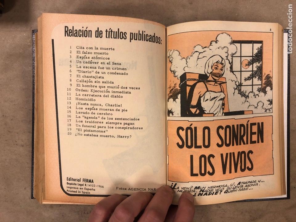 Tebeos: AGENTE SECRETO. LOTE 3 TOMOS CON 25 NOVELAS GRÁFICAS ENCUADERNADAS. EDITORIAL FERMA (1966). - Foto 53 - 175813108