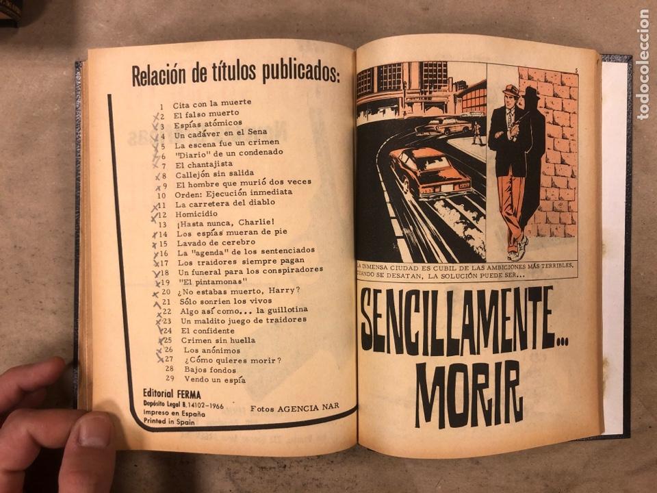 Tebeos: AGENTE SECRETO. LOTE 3 TOMOS CON 25 NOVELAS GRÁFICAS ENCUADERNADAS. EDITORIAL FERMA (1966). - Foto 55 - 175813108