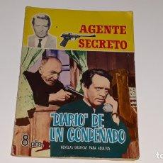 Tebeos: ANTIGUO COMIC AGENTE SECRETO Nº 6 - DIARIO DE UN CONDENADO - FERMA LIPSIA AÑOS 60. Lote 176063048