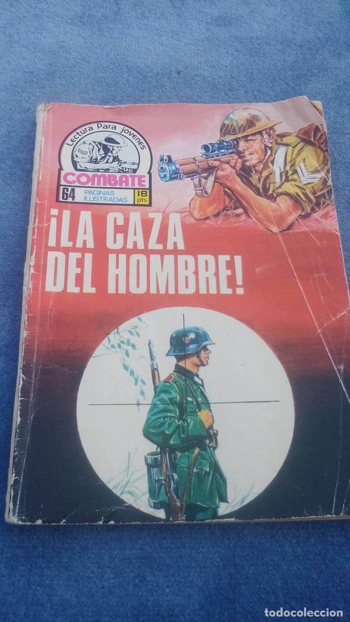 COMBATE Nº 107 PRODUCIONES EDITORIALES - 64 PGS - 16,5 X 12 CMS LA CAZA DEL HOMBRE (Tebeos y Comics - Ferma - Combate)
