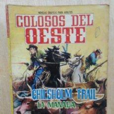 Tebeos: COLOSOS DEL OESTE - Nº 41, CHILSHOLM TRAIL, LA MANADA - ED. FERMA. Lote 177571635