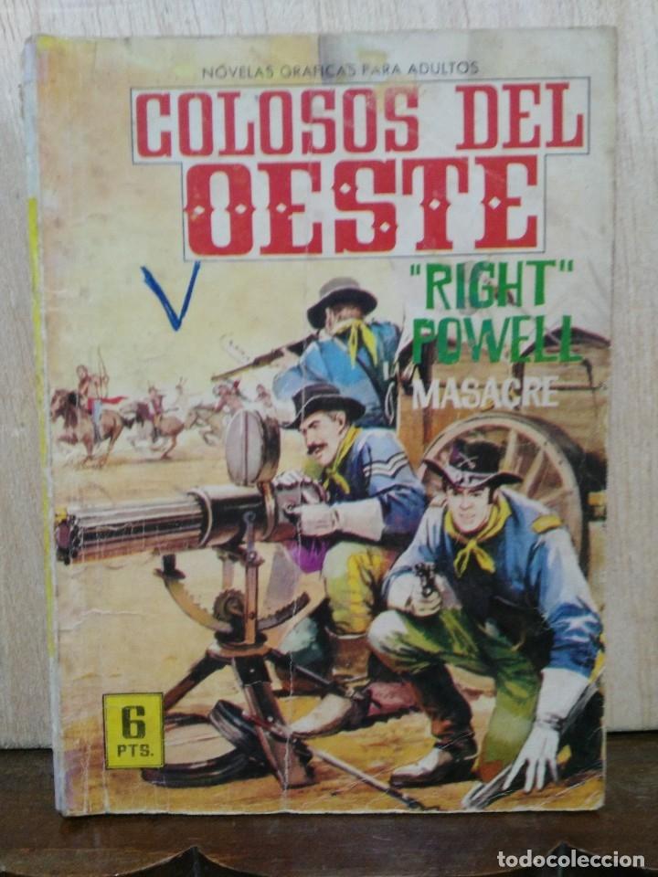 COLOSOS DEL OESTE - Nº 49, ``RIGHT´´ POWELL, MASACRE - ED. FERMA (Tebeos y Comics - Ferma - Colosos de Oeste)