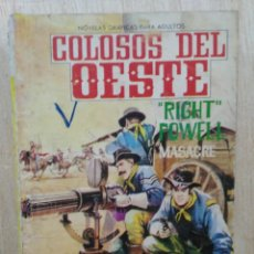 Tebeos: COLOSOS DEL OESTE - Nº 49, ``RIGHT´´ POWELL, MASACRE - ED. FERMA. Lote 177572038