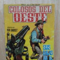 Livros de Banda Desenhada: COLOSOS DEL OESTE - Nº 85, SEIS BALAS EN EL CILINDRO - ED. FERMA. Lote 177573108